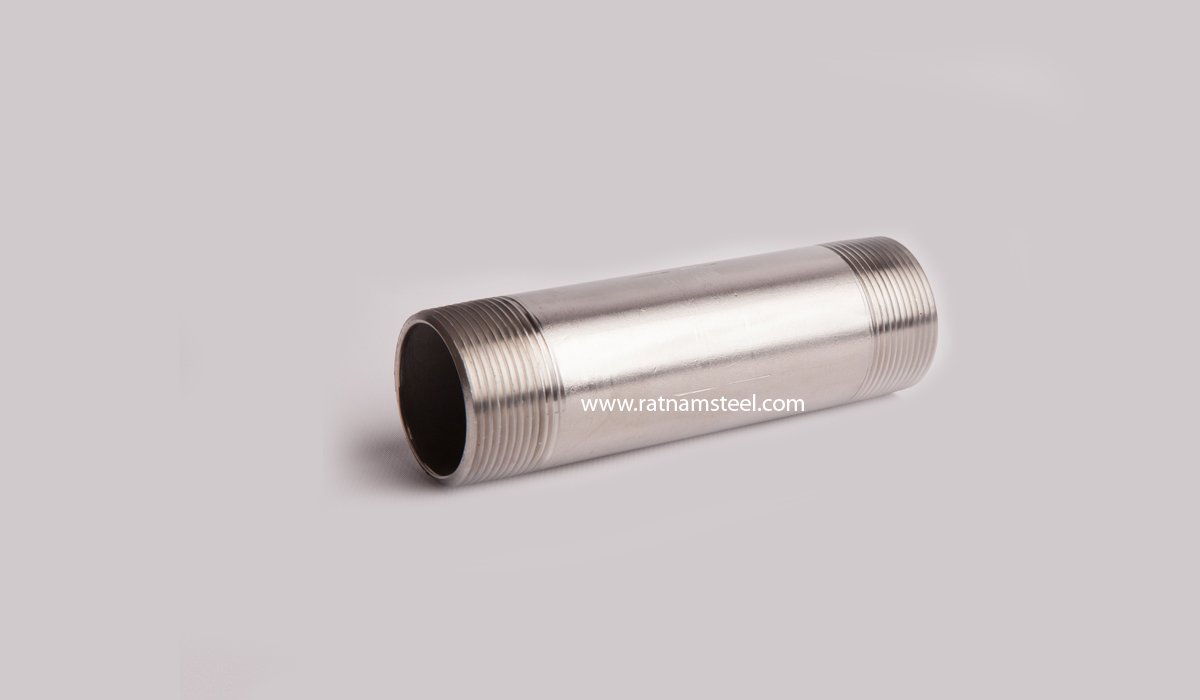 Monel 400 Threaded Both Ends Pipe Nipples manufacturer in India