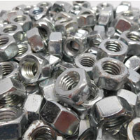 Titanium Finished Hex Nuts
