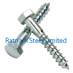 Stainless Steel AL-6XN Coach screws / Lag screw manufacturer in India