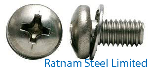 Stainless Steel AL-6XN Sems Screw manufacturer in India